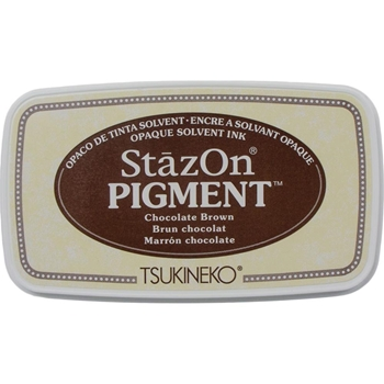 Tsukineko Stazon CHOCOLATE BROWN Pigment Ink Pad szpig041*