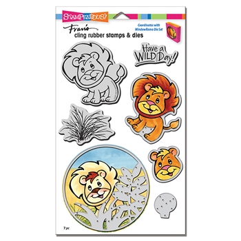 Stampendous LION Stamp and Die Set cld20