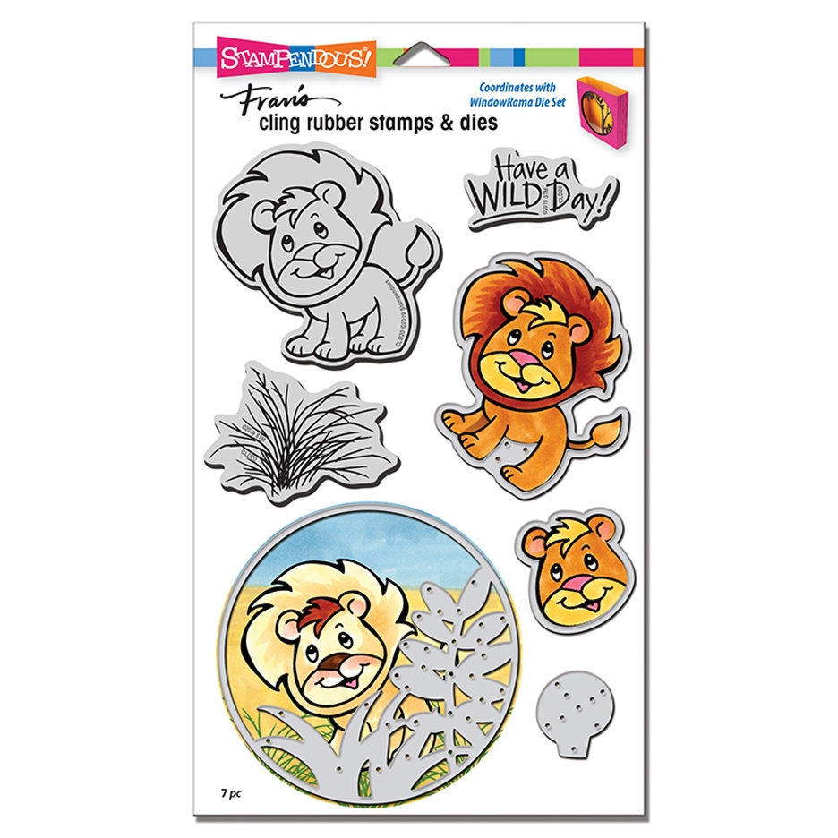 Stampendous LION Stamp and Die Set cld20 zoom image