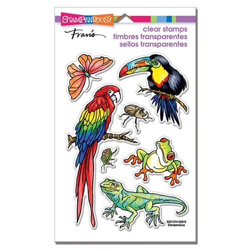 Stampendous Clear Stamp Set JUNGLE LIFE ssc1314 Preview Image