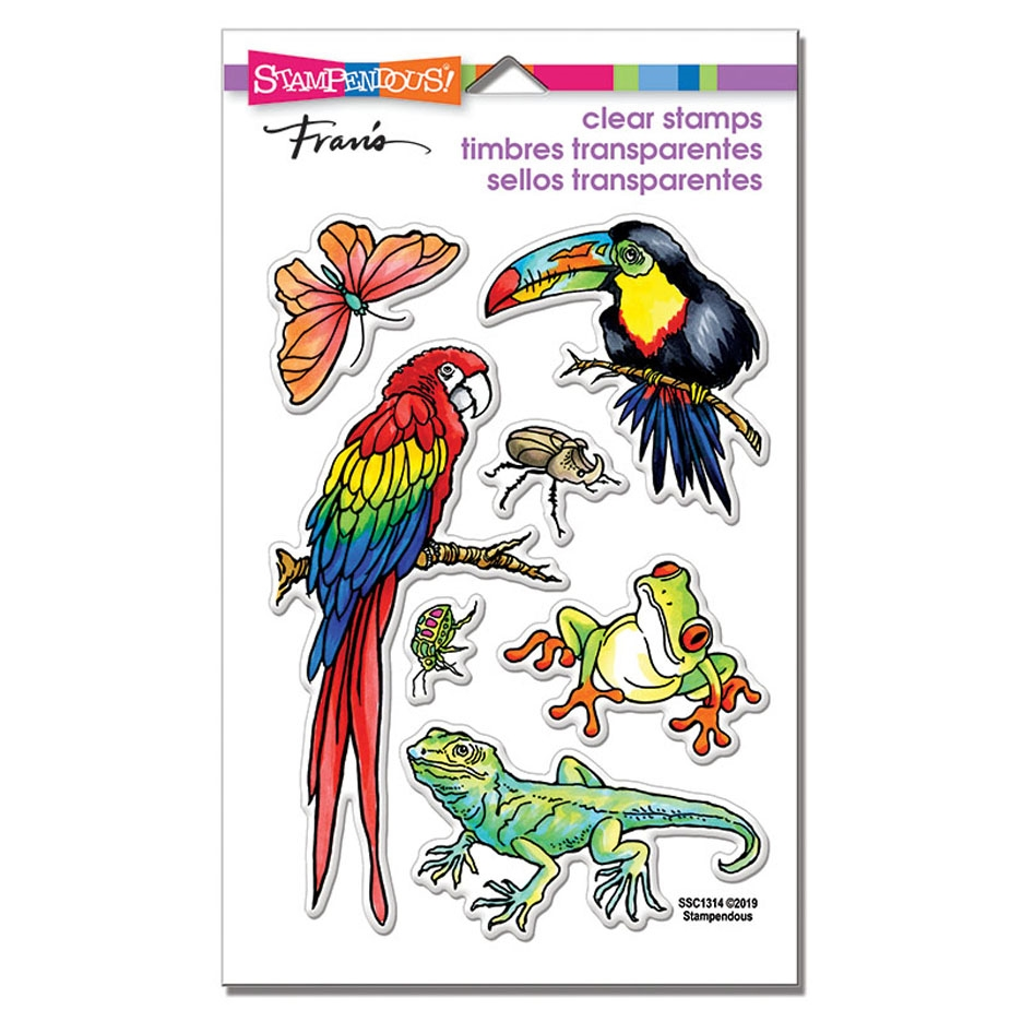 Stampendous Clear Stamp Set JUNGLE LIFE ssc1314 zoom image
