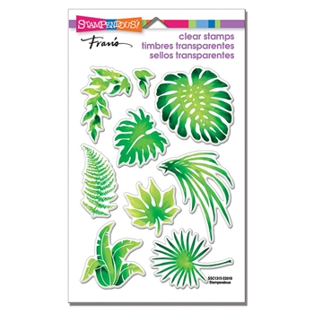 Stampendous Clear Stamp Set JUNGLE GREENERY ssc1315