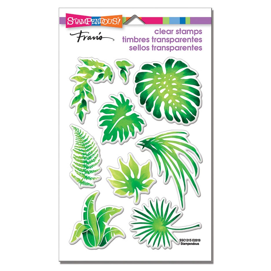 Stampendous Clear Stamp Set JUNGLE GREENERY ssc1315 zoom image