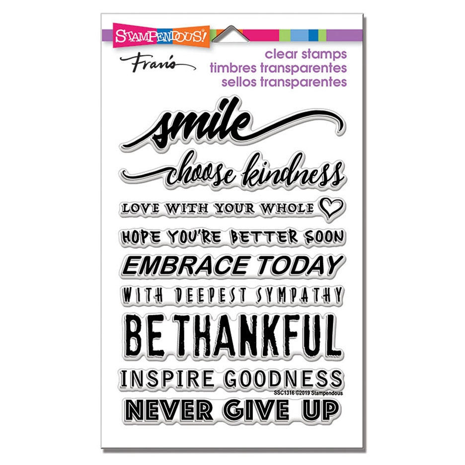 Stampendous Clear Stamp Set SMILE SENTIMENTS ssc1316 zoom image