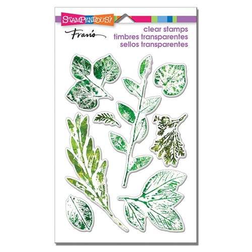 Stampendous Clear Stamp Set LEAFY IMPRINT ssc1317 Preview Image