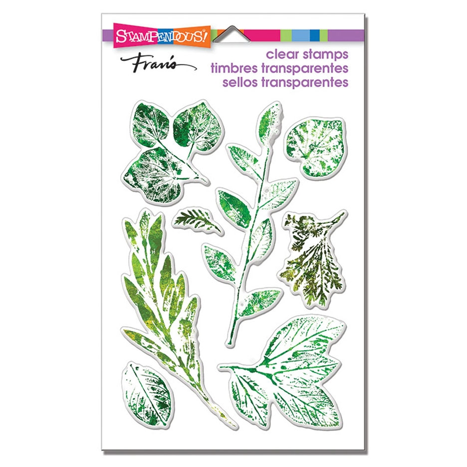 Stampendous Clear Stamp Set LEAFY IMPRINT ssc1317 zoom image
