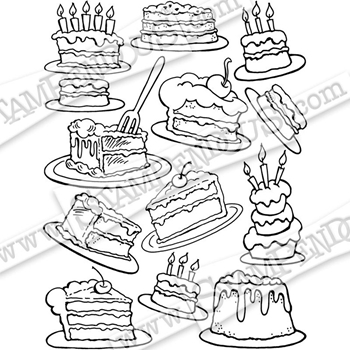 Stampendous Cling Stamp CAKE BACKGROUND crr314