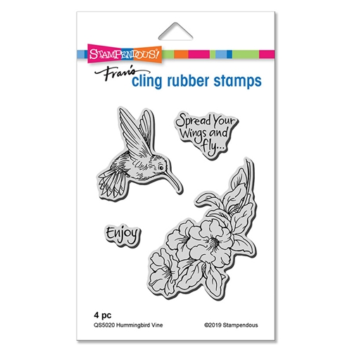 Stampendous Cling Stamp Set HUMMINGBIRD VINE qs5020 Preview Image