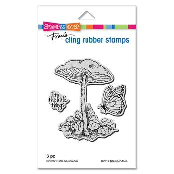 Stampendous Cling Stamp Set LITTLE MUSHROOM qs5021