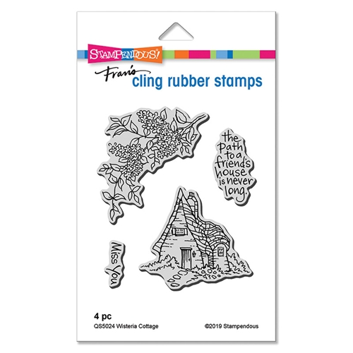 Stampendous Cling Stamp Set WISTERIA COTTAGE qs5024 Preview Image