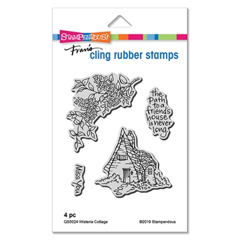 Stampendous Cling Stamp Set WISTERIA COTTAGE qs5024*