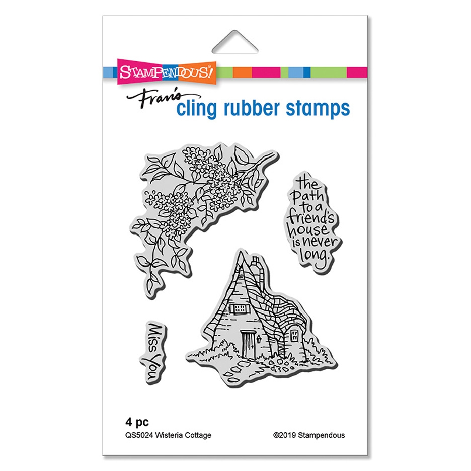 Stampendous Cling Stamp Set WISTERIA COTTAGE qs5024 zoom image