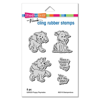 Stampendous Cling Stamp Set PUPPY PLAYMATES qs5025