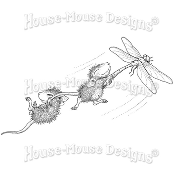 Stampendous Cling Stamp DRAGONFLY RIDE hmcm24 House Mouse