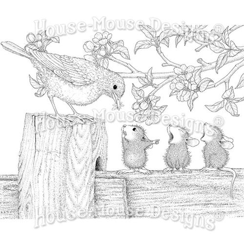 Stampendous Cling Stamp TWEET TREAT hmcr129 House Mouse* Preview Image