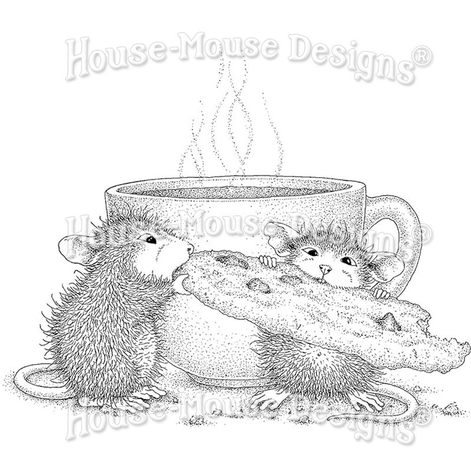 Stampendous Cling Stamp COOKIE CRUMBLES hmcq22 House Mouse zoom image