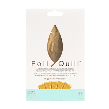 We R Memory Keepers GOLD FINCH Foil Quill Sheets 660667*