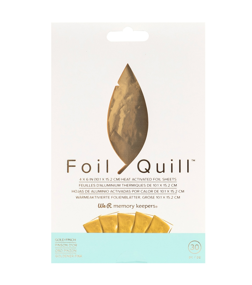 We R Memory Keepers GOLD FINCH Foil Quill Sheets 660667 zoom image
