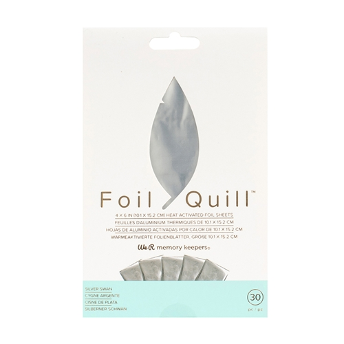 We R Memory Keepers SILVER SWAN Foil Quill 4x6 Sheets 660668 Preview Image