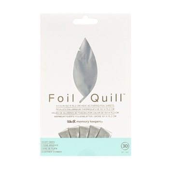 We R Memory Keepers SILVER SWAN Foil Quill 4x6 Sheets 660668*