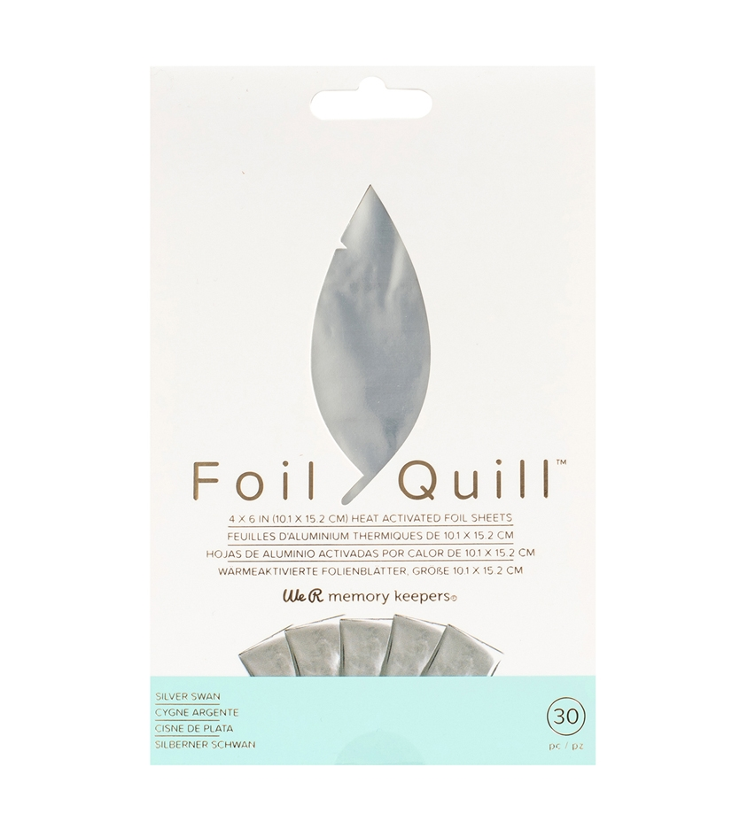 We R Memory Keepers SILVER SWAN Foil Quill 4x6 Sheets 660668 zoom image