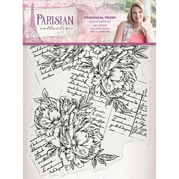 Crafter's Companion PROVENCAL PEONY Clear Stamps Parisian s-par-st-prpe