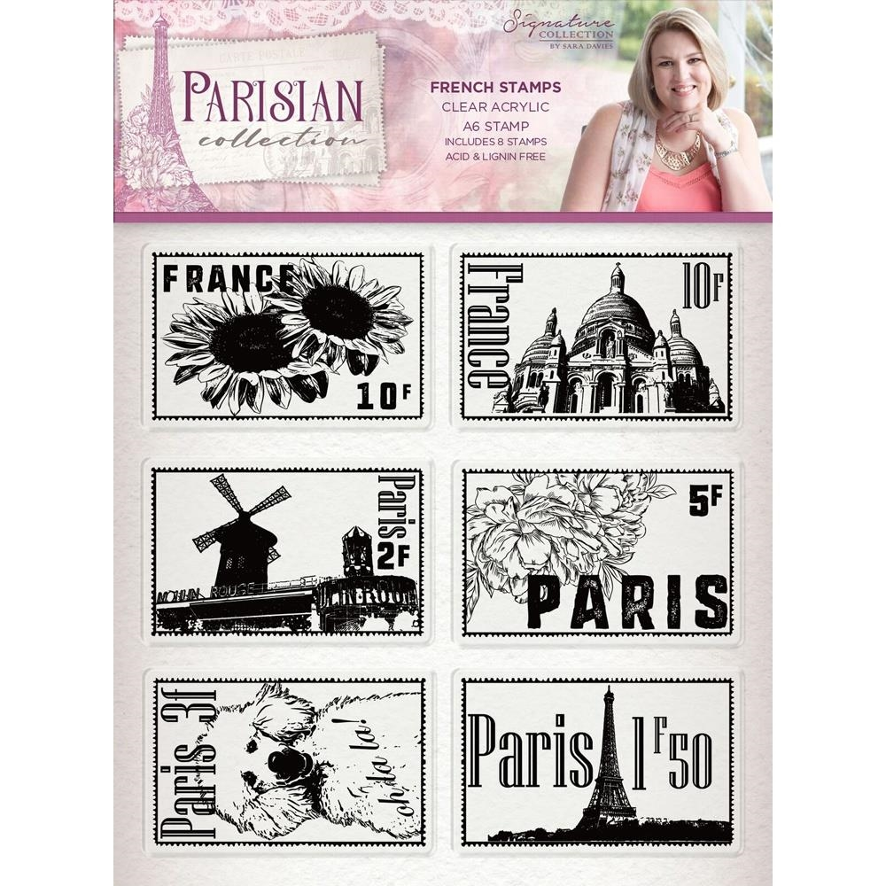 Crafter's Companion FRENCH Clear Stamps Parisian s-par-st-frst zoom image