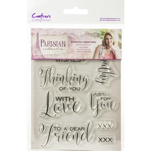 Crafter's Companion EVERYDAY GREETINGS Clear Stamps Parisian s-par-st-evgr Preview Image