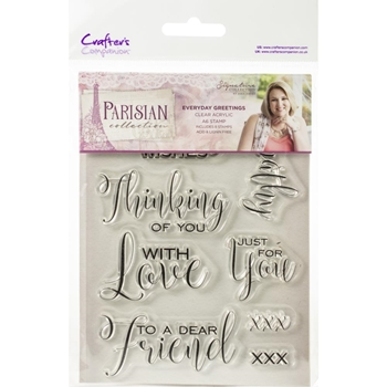 Crafter's Companion EVERYDAY GREETINGS Clear Stamps Parisian s-par-st-evgr