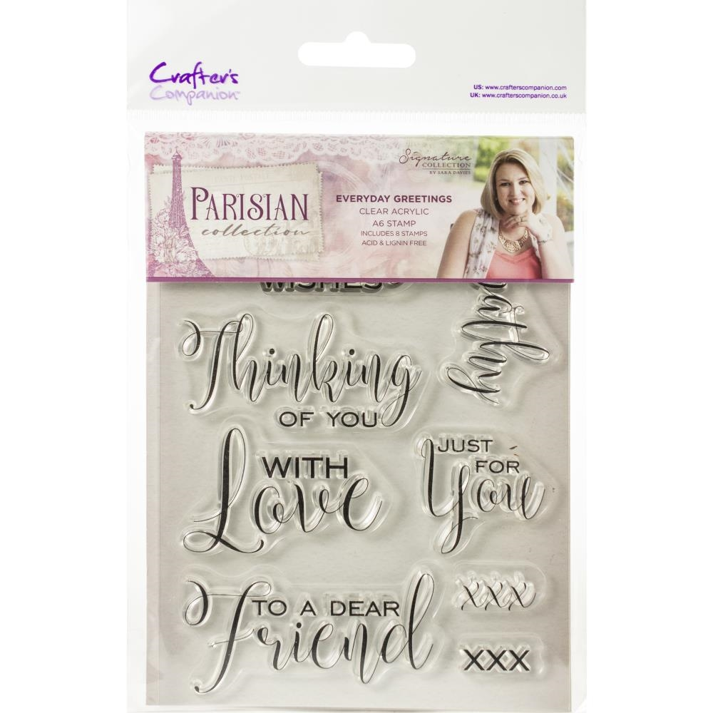 Crafter's Companion EVERYDAY GREETINGS Clear Stamps Parisian s-par-st-evgr zoom image