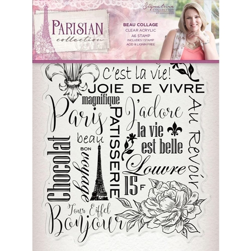 Crafter's Companion BEAU COLLAGE Clear Stamps Parisian s-par-st-bcol Preview Image