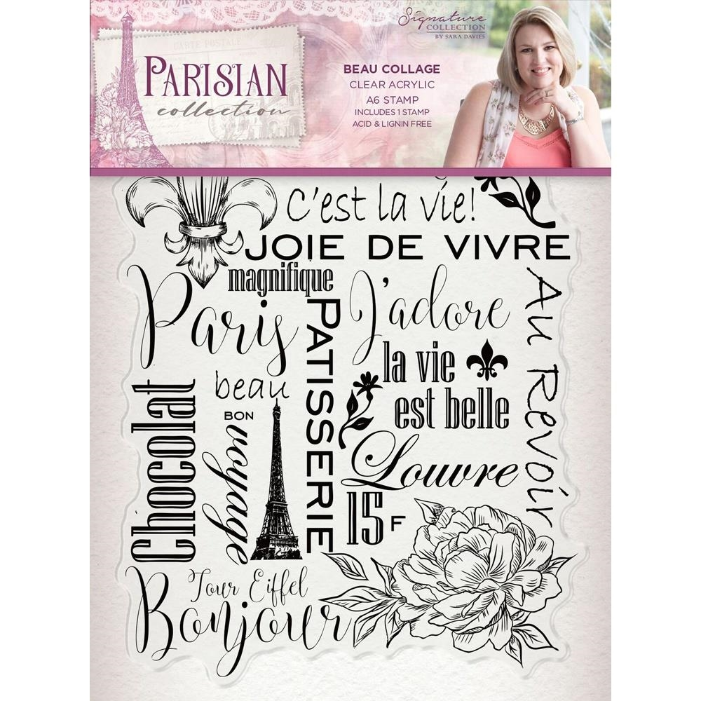 Crafter's Companion BEAU COLLAGE Clear Stamps Parisian s-par-st-bcol zoom image