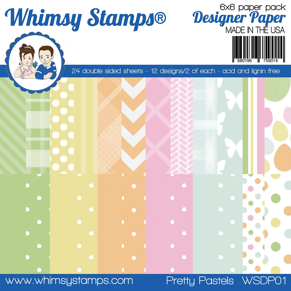 Whimsy Stamps PRETTY PASTELS 6 x 6 Paper Pads WSDP01 zoom image