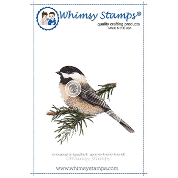 Whimsy Stamps CHICKADEE Cling Stamp DA1110