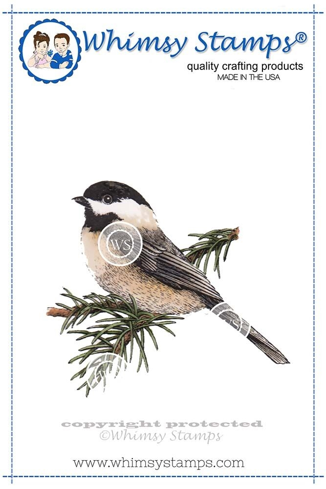 Whimsy Stamps CHICKADEE Cling Stamp DA1110 zoom image