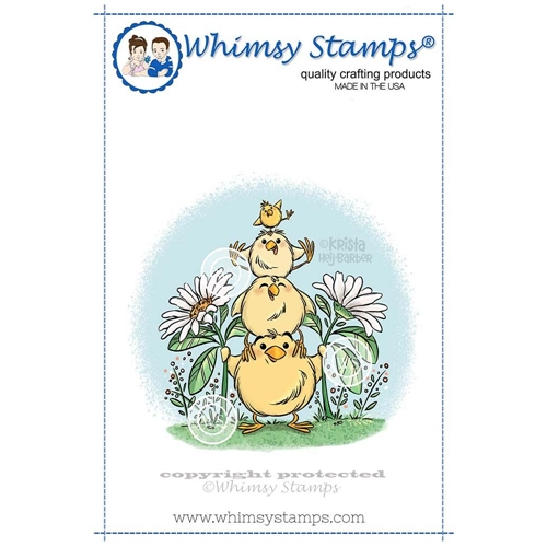 Whimsy Stamps CHICK TOTEM Cling Stamp KHB144 Preview Image