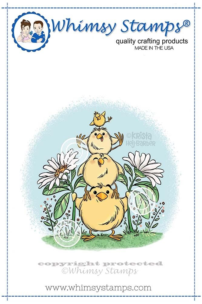 Whimsy Stamps CHICK TOTEM Cling Stamp KHB144 zoom image
