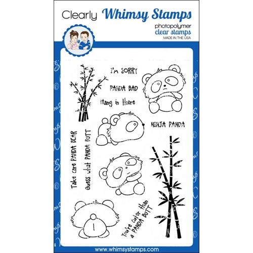 Whimsy Stamps PANDA BUTT Clear Stamps CWSD238 Preview Image