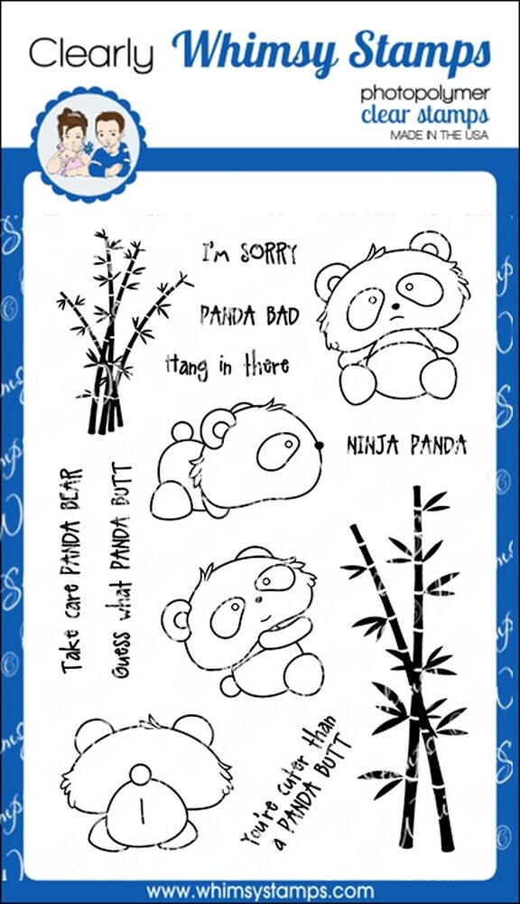 Whimsy Stamps PANDA BUTT Clear Stamps CWSD238 zoom image