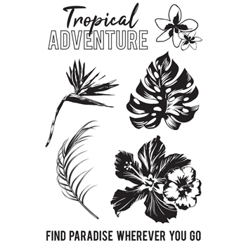 Kaisercraft PARADISE FOUND Clear Stamps CS347