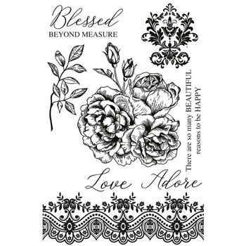 Kaisercraft ROSABELLA Clear Stamps CS346