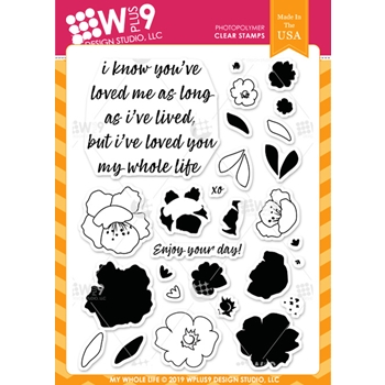 Wplus9 MY WHOLE LIFE Clear Stamps cl-wp9mwl