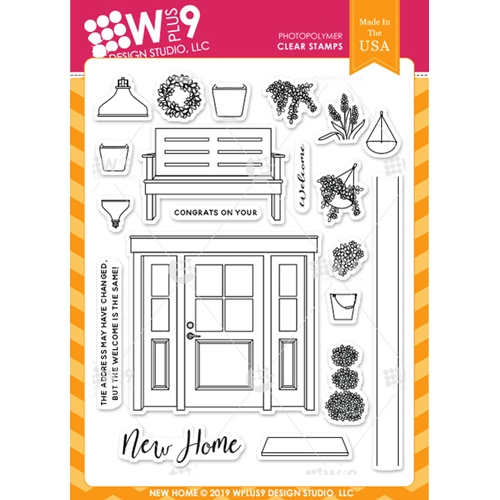 Wplus9 NEW HOME Clear Stamps cl-wp9nh Preview Image