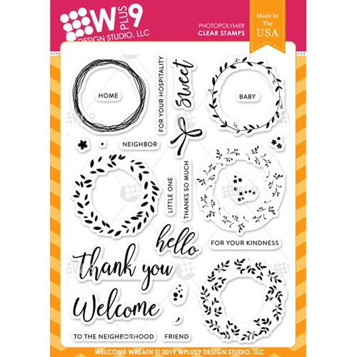 Wplus9 WELCOME WREATH Clear Stamps cl-wp9ww Preview Image
