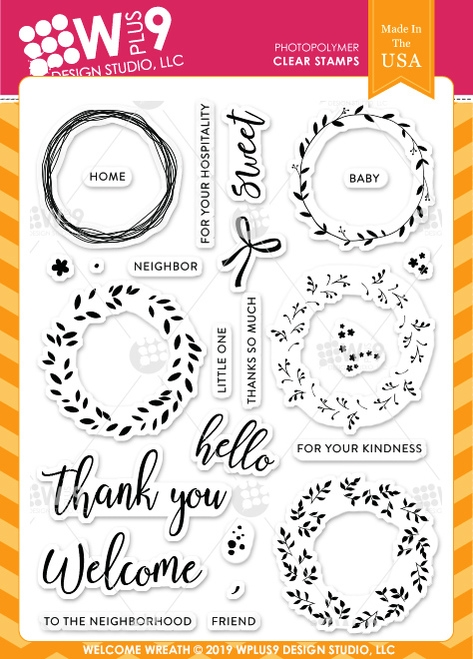 Wplus9 WELCOME WREATH Clear Stamps cl-wp9ww zoom image