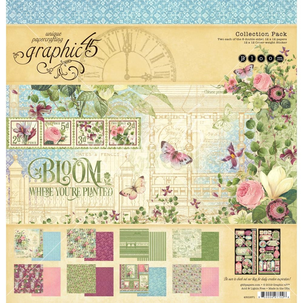 Graphic 45 BLOOM 12 x 12 Collection Pack 4501871 zoom image