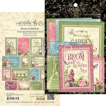 Graphic 45 BLOOM Journaling And Ephemera Cards 4501876