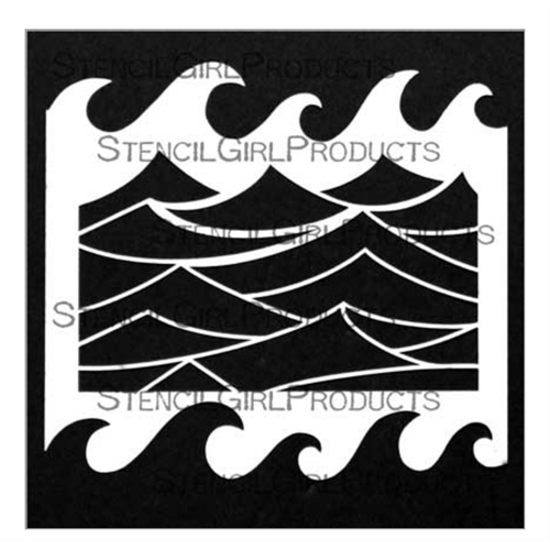 StencilGirl WATER'S EDGE 6x6 Stencil s676 Preview Image