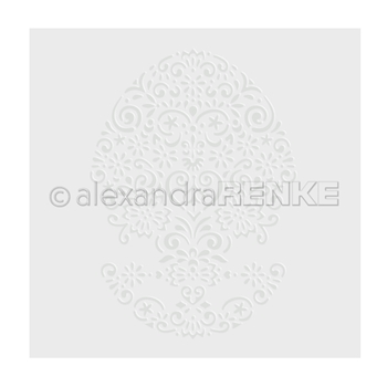 Alexandra Renke OVAL ORNAMENT Embossing Folder efarmu0006