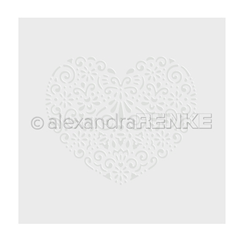 Alexandra Renke HEART ORNAMENT Embossing Folder efarmu0005